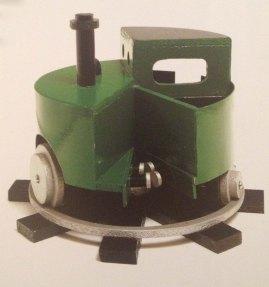 Patrick Hughes. Circular Train 1970